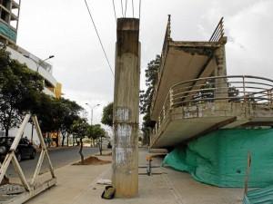 Aunque el puente peatonal de la zona no hace parte de Neomundo, se conoció que será reemplazado por otro que hará Marval.