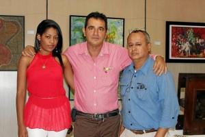 Natalia Villegas, Rafael Díaz y Fabio Flórez. (Foto Nelson Díaz).