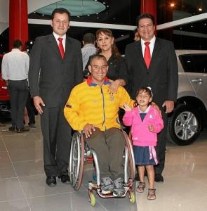 Leonardo Ruiz Mendoza, Anabel Tarazona, Jairo Duarte, Moisés Fuentes e Isabela Fuentes.