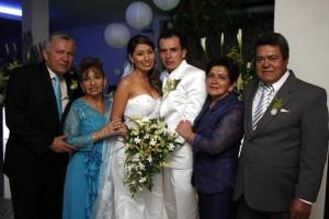 Édgar Mendoza, Ángela Gélvez, Patricia Mendoza Gélvez, William Velandia Forero, Rosario Forero y Plutarco Velandia.