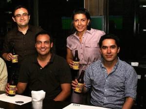 Gustavo Abril, Marsella Galvis, David Hernández y Andrés Duque.