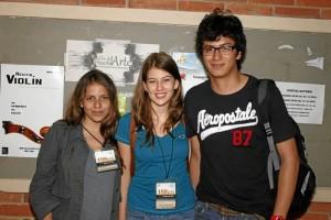 Melissa Rodríguez, Diana Hernández y Diego Ardila.