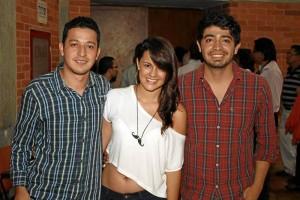 Andrés Cipagauta, Laura Angarita y Julián Forero.