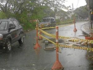 El trancón del martes a las 2 p. m. llegaba a la vía que sube a Lagos del Cacique.
