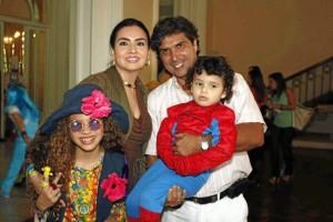 Ivanna Pimiento, Karol Gamarra de Cade-na, Óscar Cadena y Federico Cadena.