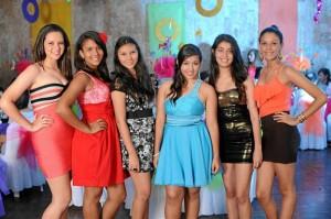 Paula Andrea Suárez y sus amigas.