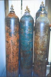 Estos son los cilindros decomisados que no reúnen las condiciones de seguridad