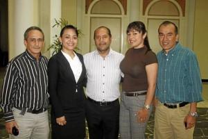 Rafael Afanador, Pilar Caballero, Jaime Chávez, Marisol Vega y José Alfredo Rozo.