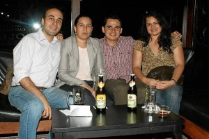 Saúl Felipe Ramírez, Lilia Quiroga, Jaime Andrés González y Nidia Quiroga.