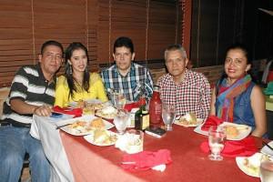 Henry Díaz, Griselda Pulido, Julio César Forero, Orlando Jaime y Leidy Var-gas.