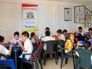 El comedor escolar es uno de los programas bandera de Fundafuturo.