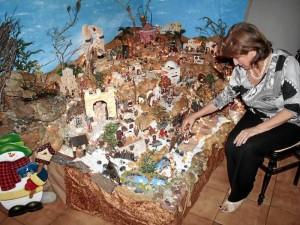 María Eugenia Vesga tiene una devoción especial por el pesebre familiar.