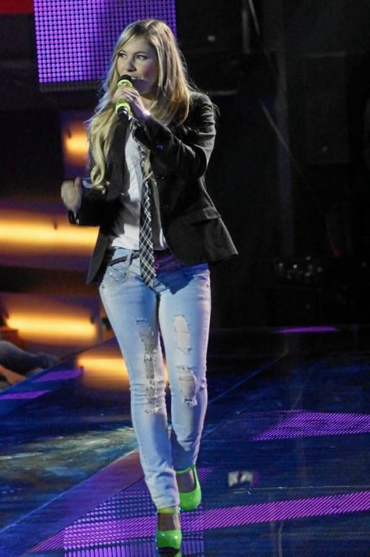 La artista en su última presentación en La Voz Colombia (20 de noviembre).