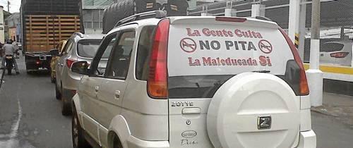 ¡Buen mensaje para los que usan el pito!