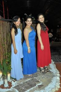 Jana Melissa Diez Rueda, Andrea Lizeth Tarazona Santos y Andrea Camila Uribe Neira.