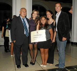 Tiberio Villareal Ramos, Carmen Villarreal, Juana Antonia Sarmiento Villareal, María Antoni Villareal y César Tiberio Villareal  Higuera.