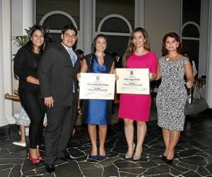 María Fernanda Silva, Iván Álvarez, Viviana Alvarejo, Catalina Vergara y Olga Lucía Arango.