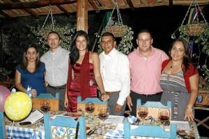 Paula Andrea Rojas, Enrique González, Carol Andrea Gómez, Vidal Becerra Molano, Jesús Antonio Torres y Laura Cuadro.