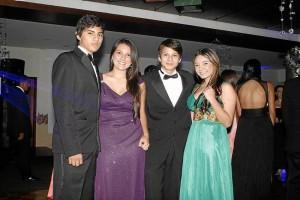 Juan José Parra Gómez, Adriana María Ballesteros, Luis Eduardo Vargas Acosta y Daniela Alejandra Suárez.