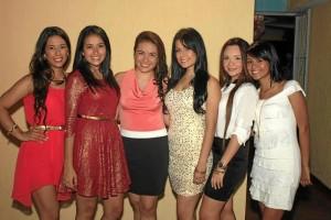 Laura Maldonado, Eliana Delgado, María Fernanda Delgado, Natalia Maldonado, Natalia Guerrero y Karol Delgado.