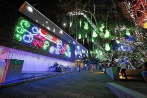 El Parque del Agua abrió sus puertas al público con su iluminación navideña desde el 23 de noviembre pasado.