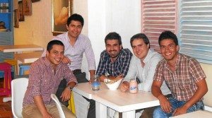 Fabio Becerra, Ricardo Sarmiento, Jaime López, Andrés Cardozo e Iván Carreño.