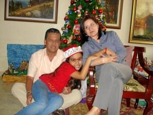 Gerardo Galán, Valentina Galán Sanabria y Nohema Sanabria.