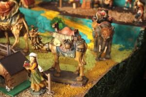Algunas piezas y detalles del pesebre de Oscar Rueda Prada.
