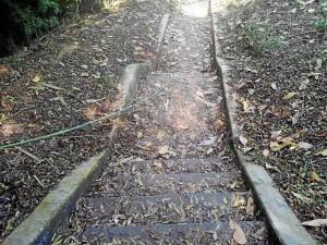 Las escaleras merecen aseo pronto.