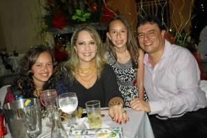 Valentina Munevar, Mar-ía Jimena Gómez, Sofía Cristina Munevar y Édgar Javier Munevar.