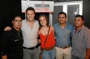 Javier Alonso, Gusi, María Alejandra Monsalve, Beto y Ronnald Rincón.