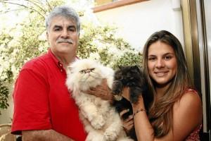 Su hija María Fernanda heredó ese apego por las mascotas.