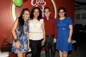Jéssica Garnica, Margie Godoy, Jorge Hernández y Natalia Cárdenas. (Fotos Mauricio Betancourt).