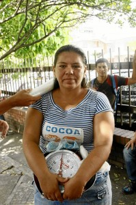Leidy  Gutiérrez vendía frutas