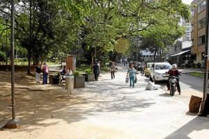 El despeje de la calle 46 del parque San Pío fue uno de los cambios más notorios.