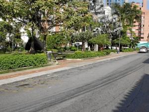El parque Las Palmas también fue despejado de ventas ambulantes.