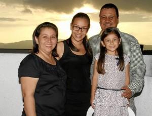 Clara Barrer, María clara Acevedo Barrera, Sarita Acevedo Barrera  y Germán Acevedo. (Suministrada).