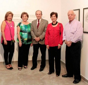 Martha Juliana Reyes, Gloria Polanco, Alberto Montoya, Milagros Céspedes y Ramón Zarate. (Foto Mauricio Betancourt).