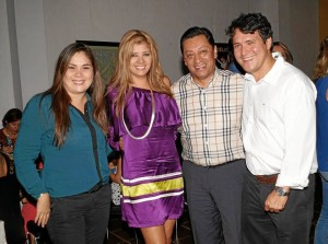 Milena Plata Sepúlveda, Glenys Pedraza, Luis Francisco Bohórquez y Jaime Vargas