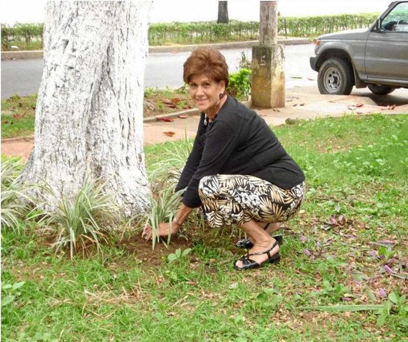 Embellecimiento del parque por voluntarios del Comité de Con-vivencia de la Unidad Residencial Torres de Sotomayor.