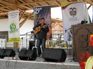 En su presentación en el festival, en Ibagué, Tolima.