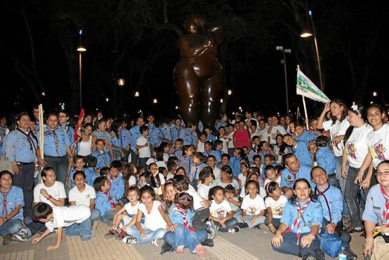 Promoviendo el lema 'Scout una vez, Scout Siempre', se reunieron los Scaut de Santander en el parque San Pío.