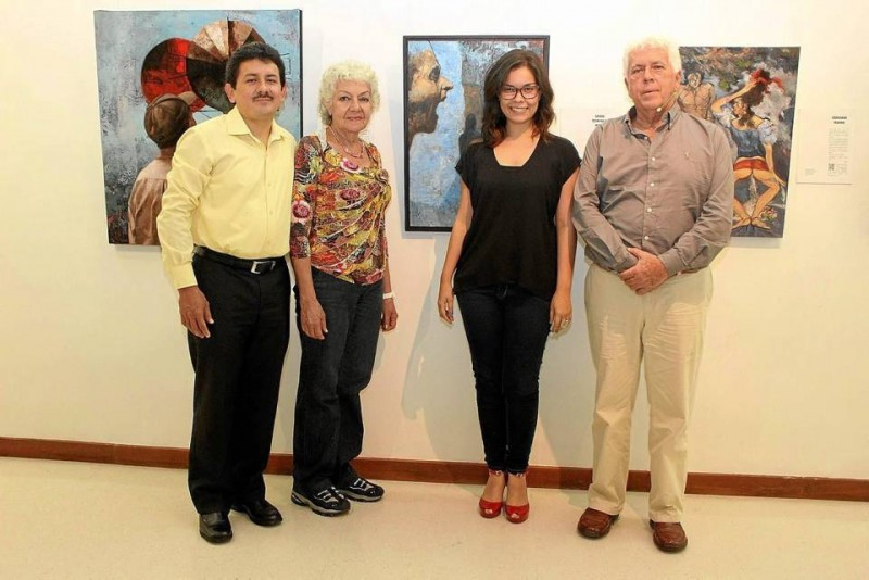 Elkin Prada Rueda, Josefina Prada, Sandra Pineda y Sergio Rangel.