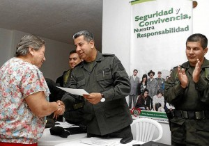 El General Yesid Vásquez, Comandante de la Región 5 de Policía estuvo en la ceremonia.