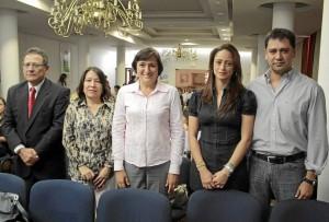 Eliseo Osorio, Yolanda Arboleda, Yolanda Otero, Silvia Cristina Reyes y Jairo Fabián Jaimes.