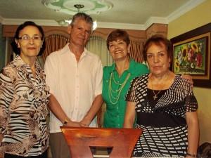 Gladys Basto, Carlos Arturo Delgado, Nohora Delgado y Ligia Rojas Rico.