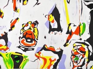 Estas son algunas de las obras que el artista expone en la Cámara de Comercio de Bu-caramanga.
