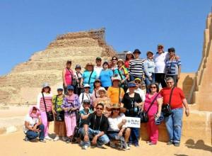 Este fue el grupo de turis-tas que el año pasado vi-sitó Tierra Santa y aportó a la asociación de niños.