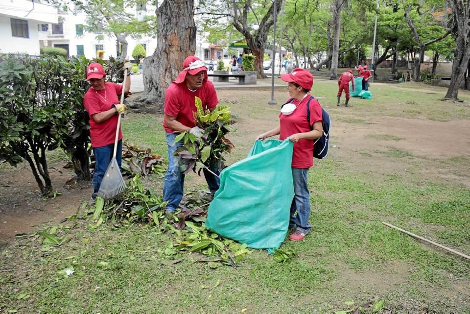 La jornada de limpieza se llevó a cabo luego de la Semana Santa.