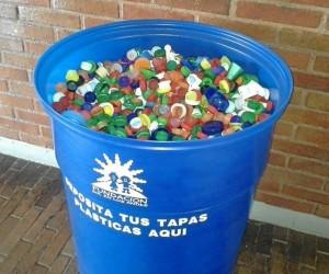 La tapas se pueden depositar en colegios, universidades y cen-tros comerciales, entre otros sitios.